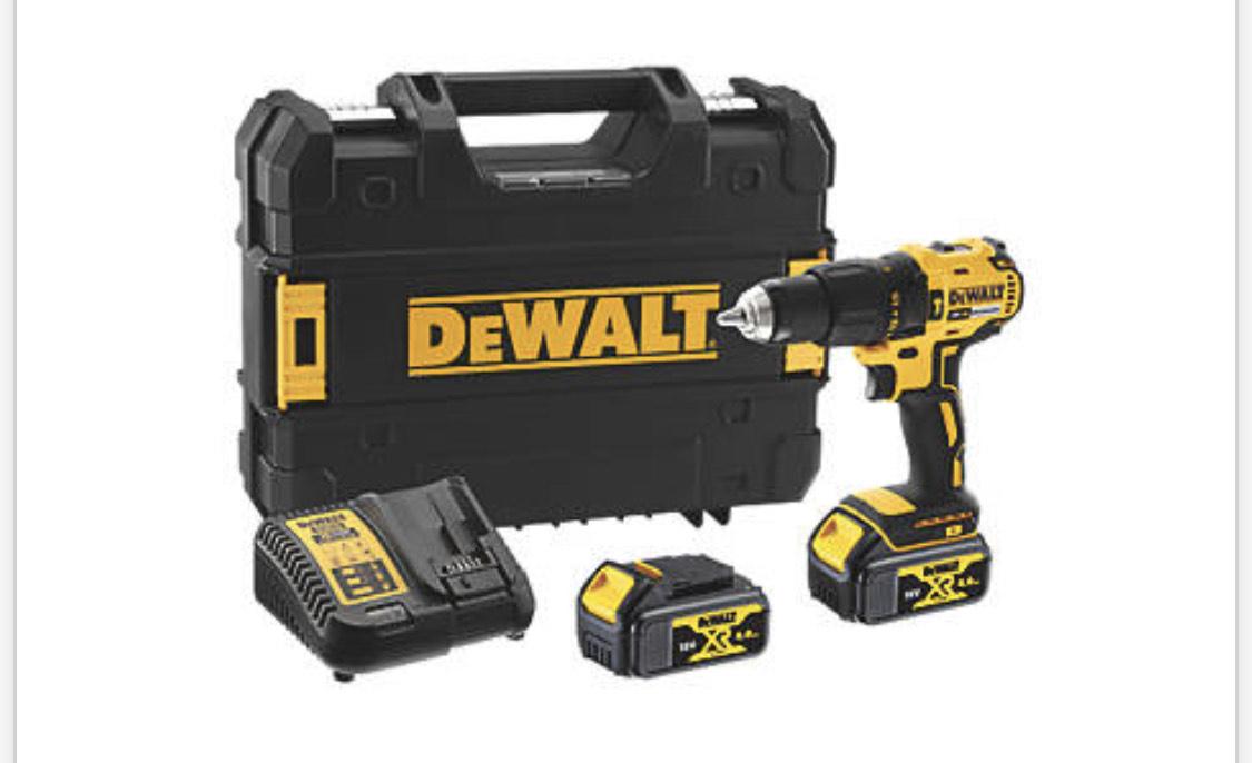 DEWALT DCD778M2 Brushless Cordless Combi Drill, includes 2 x 4ah batteries £139.99 at Screwfix