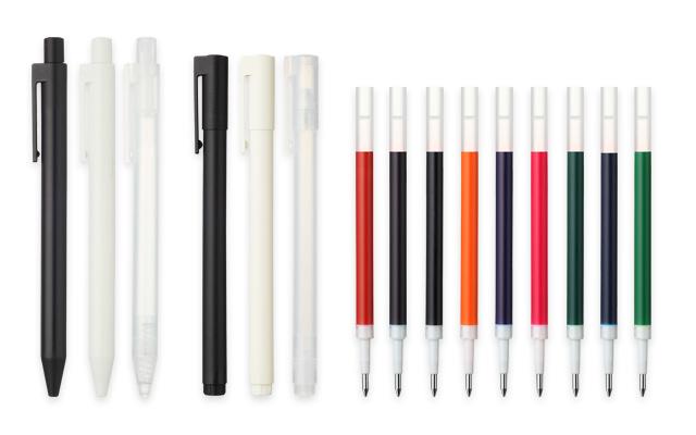 6 x MUJI 0.38mm Gel Ink Pens, mix & match £10.15 delivered @ muji