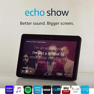 """Certified Refurbished Echo Show (2nd Gen) – Premium Sound and a Vibrant 10"""" HD Screen – Black £137.99 at Amazon"""