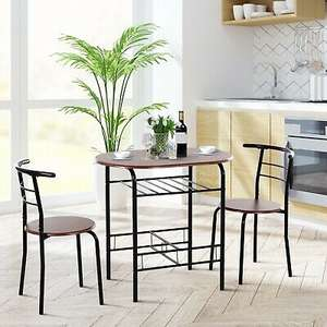 HOMCOM 3-Piece Kitchen Table and Chairs Set £42.39 Delivered with code mhstarukltd /eBay