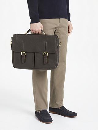 John Lewis & Partners Salzburg Leather Mini Briefcase, Brown £67.50 at John Lewis & Partners