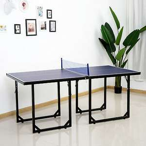 HOMCOM foldable tennis table steel legs MDF table blue 183 cm long for £71.99 delivered using code @ eBay / outsunny