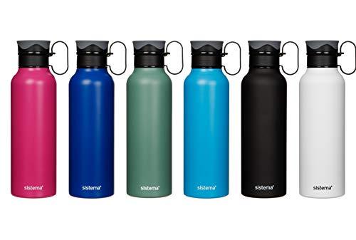 Sistema Stainless Steel Bottle, 600ml. Assorted Colours £6.62 (+£4.49 Non-Prime) @ Amazon
