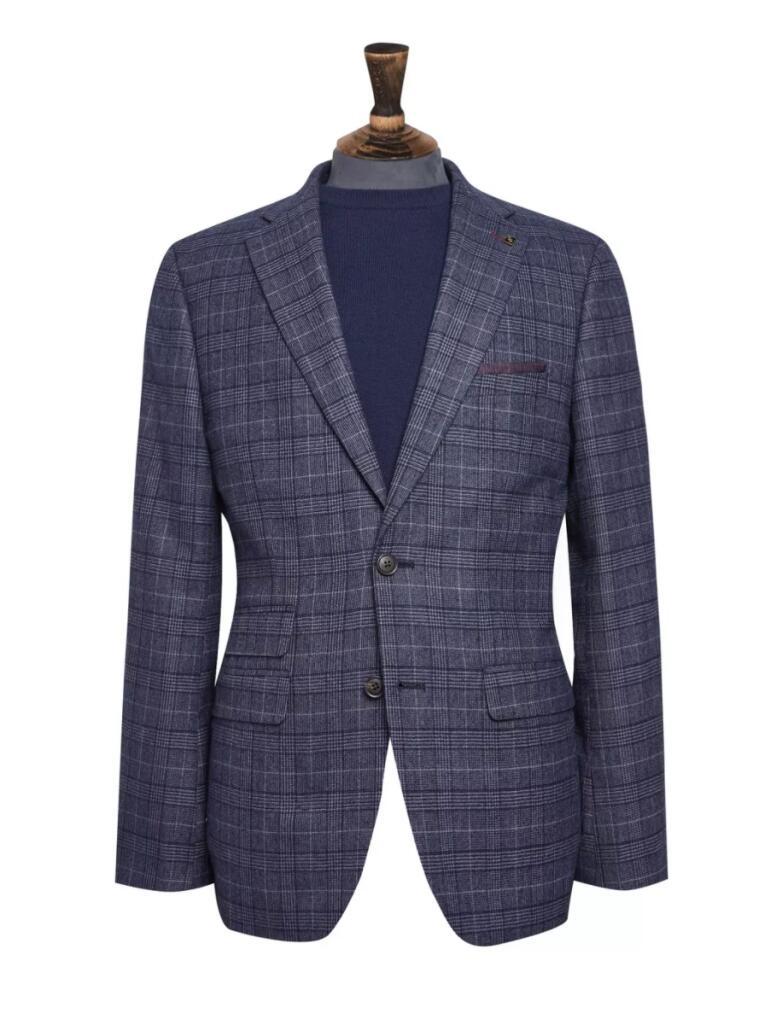 Blue Highlight Check Blazer - £30 @ Burton (Free Click & Collect)