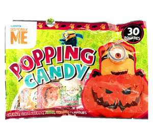 Minions Halloween Chocolate & Sweets 50p eg bag 30 popping candy just 50p Poundland Leeds Crown Point