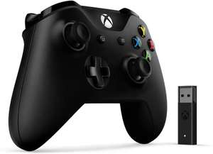 Microsoft Xbox One Black Controller + Wireless Adaptor for Windows PC £44.97 Delivered @ Amazon France