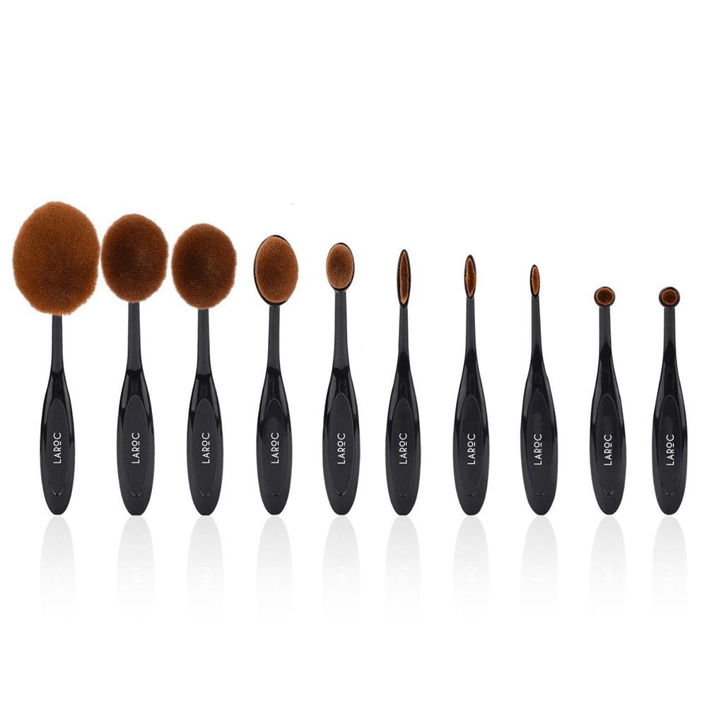 Oval Makeup Brush Set - LaRoc 10 Piece £3.75 delivered @ LaRoc