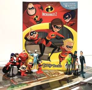 Disney/Pixar The Incredibles 2 My Busy Book - inc 10 figures and playmat - £6 (Free delivery if you spend £10 on books / £2.99 NP) @ Amazon