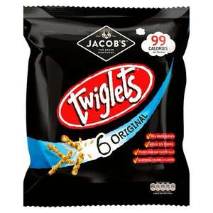 Twiglets 6 x 24g pack down to 49p Aldi in store