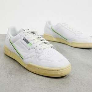 Adidas Originals Continental 80 Men's Trainers in White Grey & Signal Green £30 Delivered @ ASOS via app
