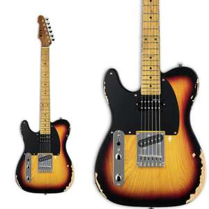 ESP LTD TE-254 Distressed 3 Tone Bust Left Handed Electric Guitar £414 / Right Handed £422 Delivered @ Thomann