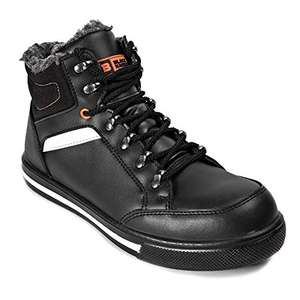 Black Hammer Mens Leather Safety Boots S3 SRC Steel Toe Cap Work Shoes Ankle Leather Fur 3007 £19.99 DIFFERENT SIZES @ Amazon