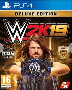 WWE 2K19 Deluxe Edition PS4 Game £14.99 at Argos