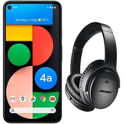 New Google Pixel 4a 5G, 54GB 5G Data, Unlmtd Mins/Texts, Voda, Free Bose Headphones, £50 upfront, 24m x £30 (£770), + £30 TCB @ e2save