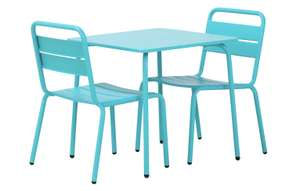 Argos kids 2 seater metal bistro table and chair set £22.50 at Argos - Free click and collect