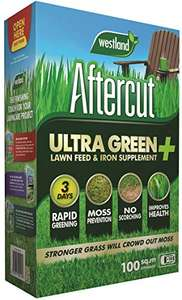 Aftercut Ultra Green + Lawn Feed & Iron Supplement, 100 m2, 3.5 kg for £2.40 (Prime) / +£4.49 (NP) delivered @ Amazon