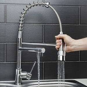 Modern Mono Pull Out Kitchen Mixer Tap Dual Spout Spray Single Lever Chrome £39.99 delivered at plumbworlduk eBay