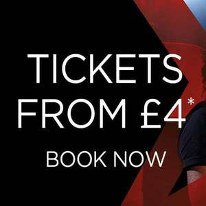 Cinema tickets £4 for Re-releases and most films released before October - just £4 per ticket @ Cineworld