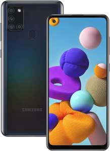 """Samsung Galaxy A21s on EE PAYG 6.5"""" display, 5000mAh battery, 32 GB, NFC, Black for £119.99 at Argos"""