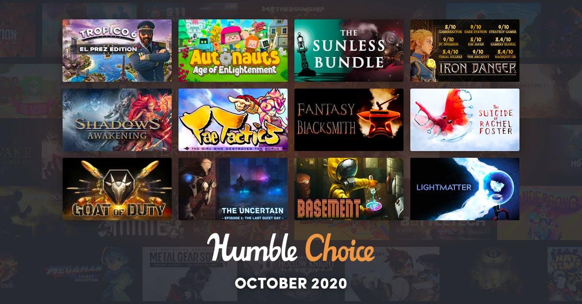 Humble Choice October - Tropico 6 £9.28 @ Humble Bundle