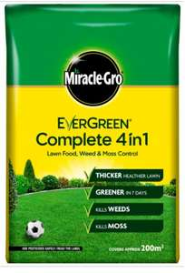 Evergreen Complete 4-in-1 Lawn Feed, Weed and Moss Killer 200m² 7kg £3.75 Wilko reduced instore Bradford