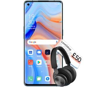 Oppo Reno 4 Pro 5G and claim a pair of B&O H4 Headphones & a £50 Love2Shop Voucher and 6 months Disney+ £36.81 p/m £30 upfront £1355.16 @ o2