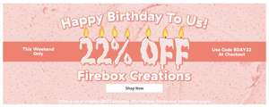 22% off Firebox Creations range this weekend only