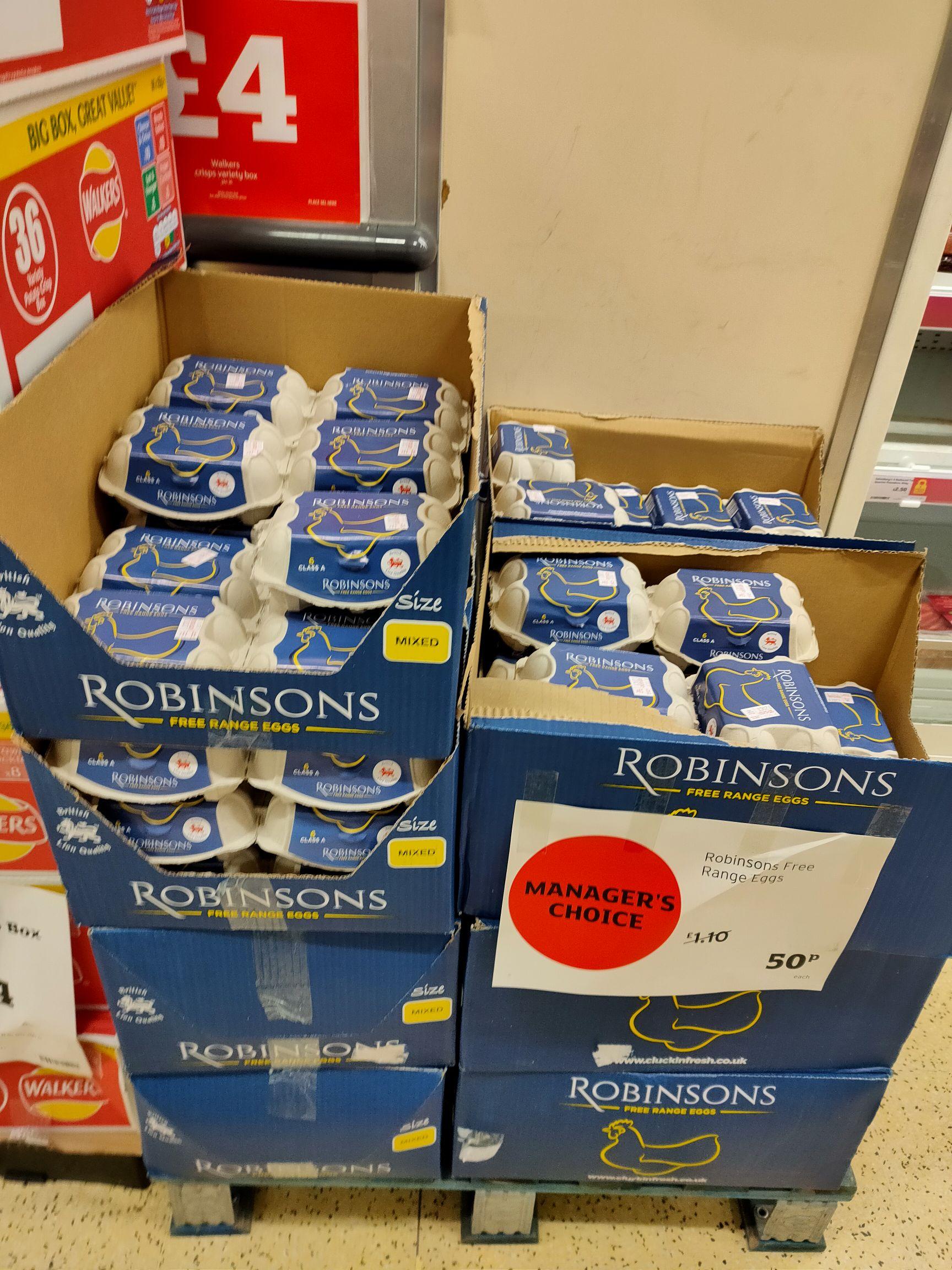 6 x Robinson's Free Range Eggs - 50p @ Sainsbury's