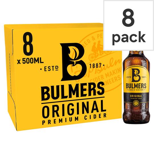 Bulmers Original Apple Cider 8X500ml Bottle for £6 @ Tesco