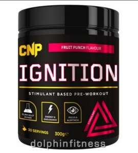 CNP Ignition High Stimulant Pre Workout 30 Servings £15.95 (£1.95 delivery) @ Dolphin Fitness