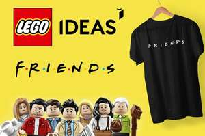Lego Ideas Friends & T-Shirt £46.74 at I Want One of Those