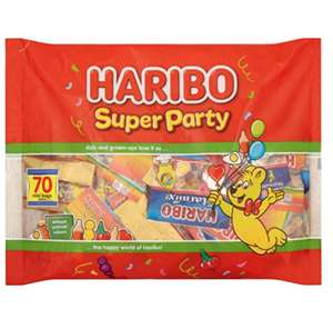 Haribo Super Party Variety Sweets, 70 Mini Bags £5.00 with Amazon Prime / £9.49 non prime