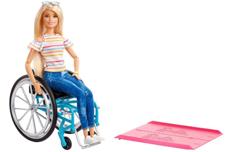 Barbie GGL22 Doll and Wheelchair, Blonde - £13.99 Prime / +£4.49 Non Prime @ Amazon