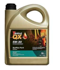 Triple QX SynPlus SAE 5W30 Fully Synthetic Car Engine Oil 5L Ford Spec 5 Litre £17.84 Eurocarparts on eBay