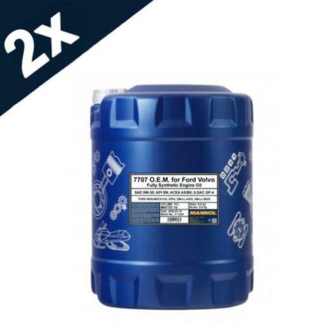 MANNOL 2x10L FORD 5w30 Fully Synthetic Engine Oil SL/CF ACEA A5/B5 WSS-M2C913-D £37.39 lubriagecarpartsaccessories eBay