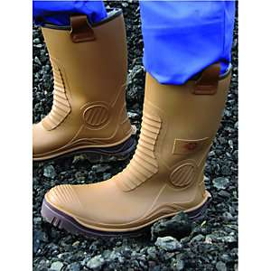 Dickies Safety Wellington Boot - Tan Size 9 - £1 / 90p with trade discount at Wickes click & collect