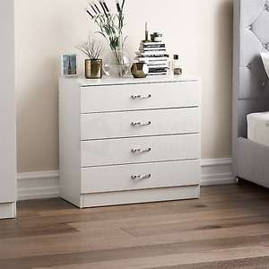 White Riano Chest Of Drawers 4 Drawers for £42.46 / 5 Drawers for £46.71 delivered @ eBay / homediscountltd