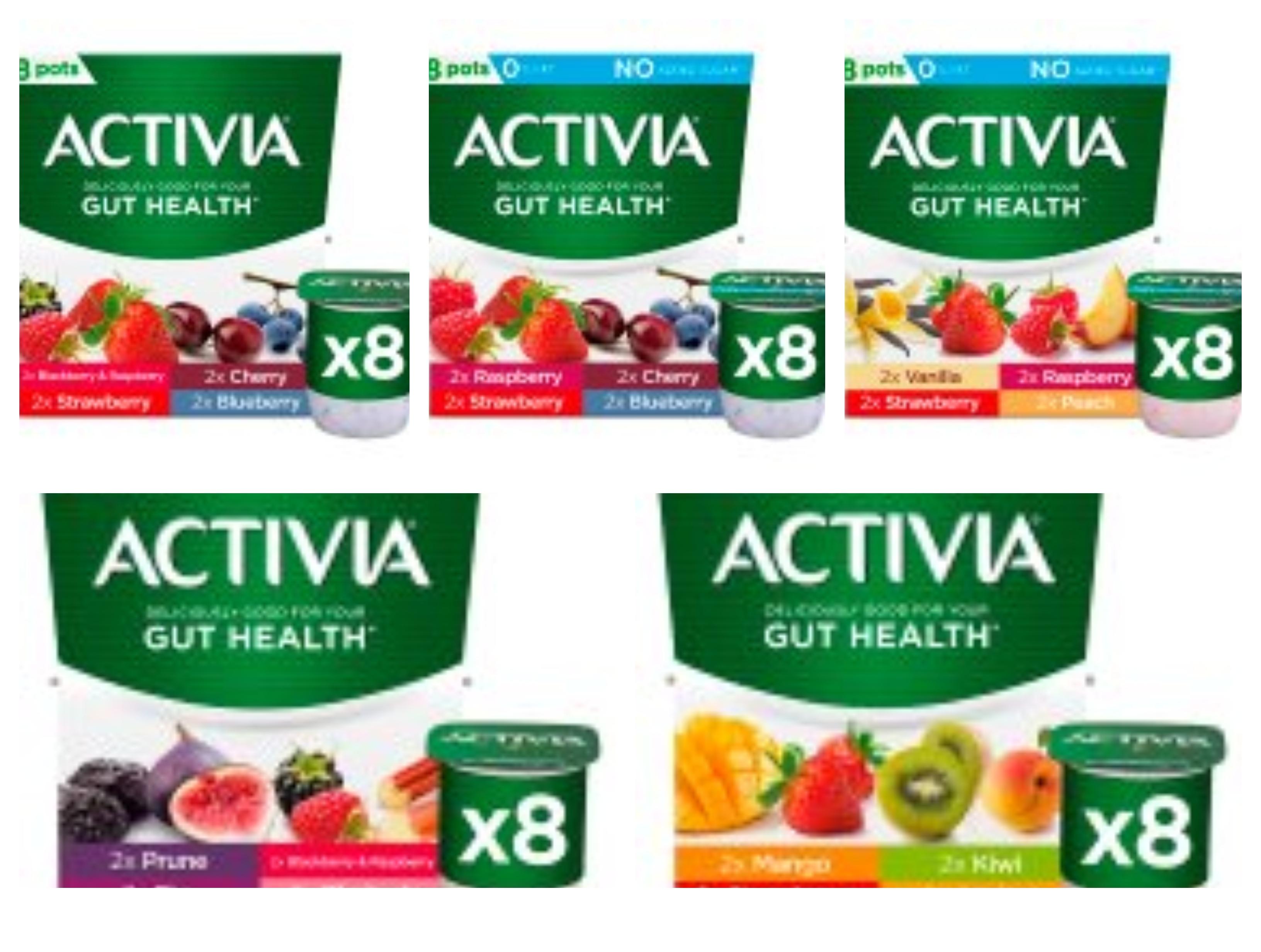 Activia Red Fruits Yogurt 8x120g ( 5 Varieties on offer ) - £2.00 @ Sainsbury's