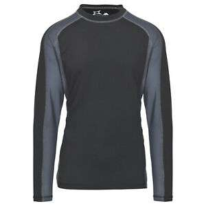 Trespass Explore mens long-sleeve quick-dry thermal workout base layer in black/grey for £16.14 delivered using code @ eBay / Trespass