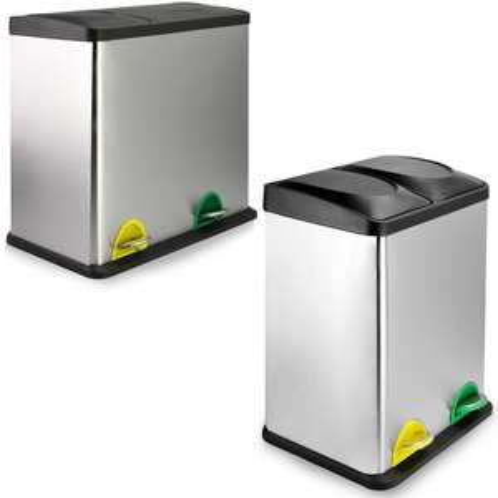 Compact Recycling Pedal Bins - 2x20L - £35.27 / 12L + 24L - £31.02 Using code @ eBay / Roovcouk