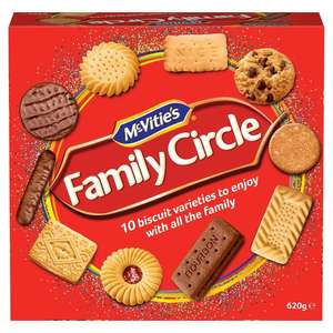 McVitie's Family Circle Biscuits 620g - Buy 1 Get 1 Free £3 @ Morrisons