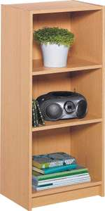 Argos Home Maine 2 Shelf Half Width Bookcase - Beech Effect £10 free click and collect at Argos