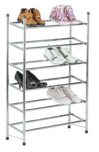 Argos Home 6 Tier Extendable Shoe Rack - Chrome £15 free click and collect at Argos
