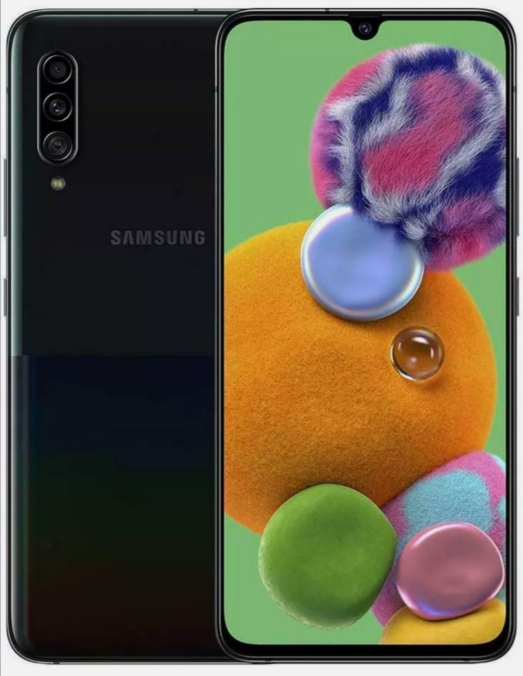 Grade A Refurbished (12m Warranty) Samsung Galaxy A90 (2019) 5G 128GB Unlocked Black/White Smartphone - £237.99 @ XS Items / Ebay
