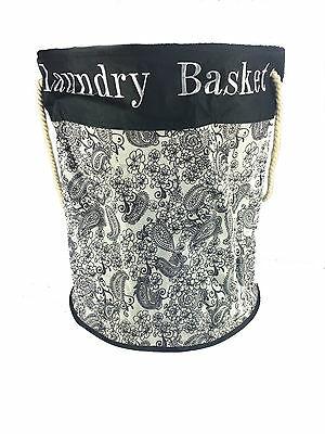 3 X Laundry Bag Round Fabric Washing Basket Black & White 87L - £7.99 delivered @ multi.fc.store / ebay