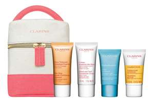 Clarins FREE Gift of Beauty Gift with Two Purchases One to be skincare, prices start from £15 + £1.50 click and collect at Boots