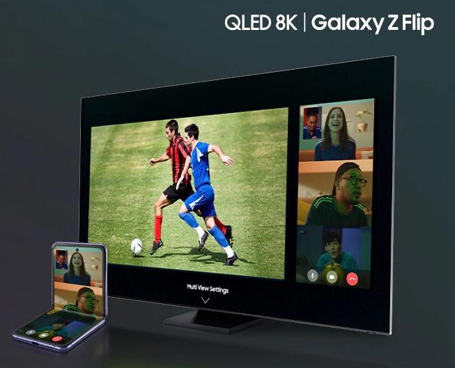 "Samsung QLED QE55Q700TA 55"" Smart 8K TV £1799 & Claim a Free Galaxy Z Flip @ AO.com"
