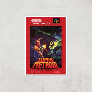 30% off Nintendo Retro Super Metroid (Japanese version) cover art print from £9.98 delivered using code @ IWOOT