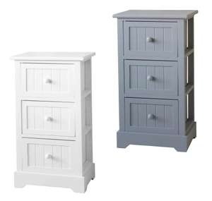 White or Grey Classic 3 Drawer Storage Unit for £15 / Classic Tallboys £35 @ Homebase (free click and collect)