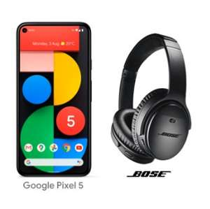Google Pixel 5 - contract 3 Unlimited data/texts/minutes- 6 months half price £24.50 p/m plus free Bose Headphones at Three